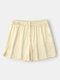 Casual Lightweight Pure Color Mini Homewear Shorts For Men - Gold