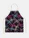 تنظيف بنمط الفراشة Colorful مآزر الطبخ المنزلي مريلة المطبخ للطبخ ارتداء مرايل الكبار من القطن والكتان - رقم 31