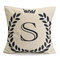 English Letters Olive Branch Pattern Bed Throw Pillow Case Cushion Cover Home Sofa Decor - S
