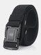 125CM Men Nylon Belt Metal Magnetic Buckle Quickly Unlock Tactical Casual Belt - Black
