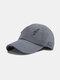 Unisex Polyester Cotton Solid Color Broken Hole Simple Sunshade Baseball Cap - Dark Gray