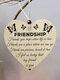 Placa de madeira para presente pendurada com chip de Natal de madeira Pingente Coração Decoração de garrafa de vinho em forma de etiquetas para casa - #12
