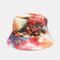 Graffiti Galaxy Fisherman Hat Women's Cotton Basin Hat - Orange