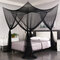 Mosquito Net 4 Corner Post Bed Canopy Mosquito Net Full Queen King Size Netting Bedding - Black