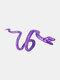 Alloy Vintage Snake-shape Animal Ear Clip Earrings - Purple
