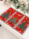 1 Pc décorations de noël tricoté napperon en tissu créatif tricoté napperon vieil homme petit arbre napperon - #03