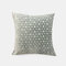 Solid Color Chenille Geometric Jacquard Circle Sofa Pillow Office Nap Pillow Bedroom Car Cushion Cover - Blue