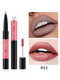 2 In 1 Double-Head Non-Fading Lip Gloss Lip Liner 12 Colors Non-Stick Cup Lip Gloss Lip Makeup