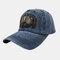 Embroidery Baseball Cap Cartoon Cute Bear Cap Sun Hat - Navy