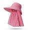 Cappello da donna con protezione solare estiva in tinta unita Cappello da muschio per esterno Cappello rimovibile casual - #07