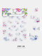 5D Colorful Flowers Embossed Decals Series Nail Stickers - #20