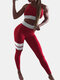Women's Sexy Yoga Sports Suit Sports Fitness Suit  - Red