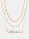 Collar Vintage Doce Constelaciones Mujer Collar de diamantes con incrustaciones de múltiples capas Colgante - Acuario
