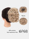 30 Colors Big Steel Fork Hair Ring Wig Updo Cover Fluffy Chemical Fiber Wig Piece - #08