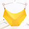Plus Size Seamless Ice Silk Low Rise Soft Hip Lifting Panties