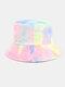 Women & Men Corduroy Multicolor Tie Dye Casual Soft Outdoor All-match Bucket Hat - #09