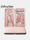 10/13/15/18 Pcs Stainless Steel Nail Clipper Set Manicure Set Nail Tool - #03