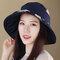 Damen Faltbarer Vintage Plaid-Becken Fishmen Hut Lässig Sonnenschutz-Eimer für den Außenbereich Hut
