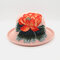 Ladies Curling Cap Travel Shopping Sun Hat Dome Embroidered Beach Hat Breathable - #05