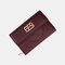 Women Trifold Women PU Leather 8 Card Slots Phone Bag Money Clip Wallet Purse - Wine Red