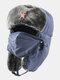 男性防寒冬用トラッパーハットマスクトラッパーハット付き厚手の冬用ハット耳栓 - #09