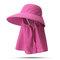 Cappello da donna con protezione solare estiva in tinta unita Cappello da muschio per esterno Cappello rimovibile casual - #02