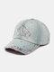Women Denim Rhinestone Decorated Crown Pattern Broken Hole Casual Sunshade Baseball Caps - #01