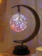 LED Stars Moon Lamp Rattan Ball Apple Night Light Handmade Hemp Rope Bedside Decorative Table Light Handmade Birthday Gifts Home Decor - Rattan Ball
