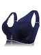 Sexy Deep V Gather Breathable Wireless Full Coverage Bras - Blue
