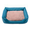 3 Colors Plush Oxford Fabric Pet Sofa Bed Kennel Dog Cat Anti-scratch Kennel