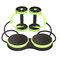 <US Instock> عجلة مزدوجة AB Roller Sport النواة سليمالجسم معدات تمارين البطن مدرب تخسيس الخصر مدرب البطن في الصالة الرياضية المنزلية - أخضر
