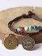 Vintage Constellation Circle-shape Ceramic Alloy Bracelets - #01