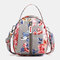 Women Nylon Waterproof Print Casual Shoulder Bag Handbag - #06