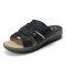 Women Casual Soft Hollow Stitching Flat Sandals