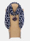 Vintage Chiffon Tassel Women Scarf Necklace Geometric Pendant Flower Leaf Pattern Shawl Necklace - #01
