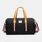 Separate Dry And Wet Gym Bag Woman Man Luggage Bag Travel Bag Portable Leisure Yoga Bag cylinder Bag - Black 1
