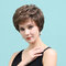 8 inch Brown Mixed Color Textured Short Wig Comfortable Natural Breathable Human Hair Wigs  - 8 Inch