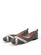 Women Fashion Square Toe Ballet Shoes Sequins Decor Loafers Casual Flats - Gray