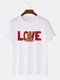 Mens Toy Bear Love Print Casual 100% Cotton Short Sleeve T-Shirts - White