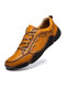 Menico Men Comfy Microfiber Leather Non Slip Soft Hand Stitching Casual Shoes - Yellow