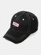 ユニセックスコットンレター刺繡パターン屋外サンシェード野球帽 - 黒