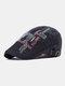 पुरुषों के पत्र कढ़ाई आकस्मिक फैशन Sunvisor फ्लैट टोपी आगे टोपी टोपी टोपी - काली