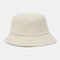 Unisex Fashion Casual Jelly Color Solid Poetable Sunscreen Outdoor Sun Hat Bucket Hat - Beige