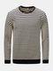 T-shirt in cotone casual a manica lunga con scollo a V a maniche lunghe uomo autunno inverno