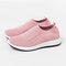 Big Size Women Running Soft Mesh Hollow Elastic Casual Sneakers