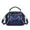 Women Plain Multi-pockets Square Bag Shoulder Bag - Blue