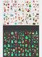 10 Pz Natale Cartone Animato Luminoso Bambini Tatuaggio Adesivi Impostato Carta Trasferibile Usa E Getta Impermeabile - #01