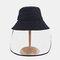 Anti-fog Big Brim Sun Hat Fisherman Hat Sun Visor - Navy