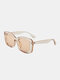 Unisex Full Wide-sided Square Frame UV Protection Fashion Sunglasses - Light Brown