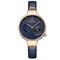 Waterproof Elegant Women Wrist Watch Genuine Leather Strap Quartz Watch - Blue